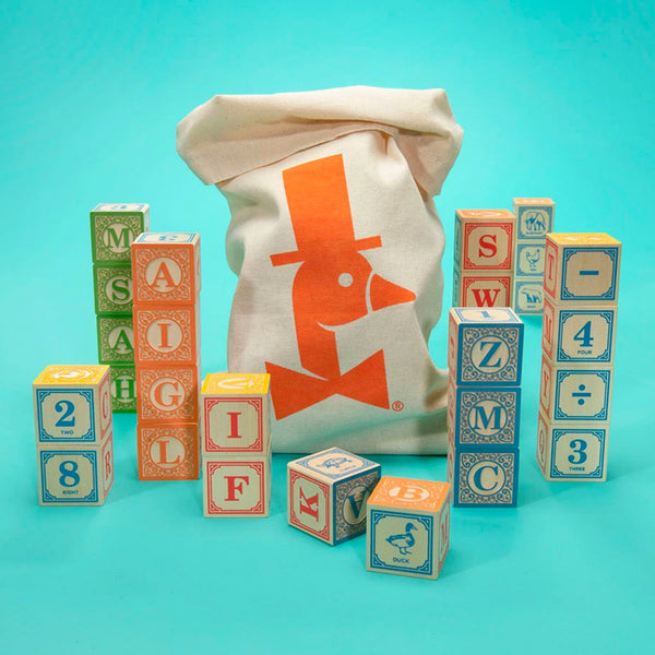 Uncle Goose: Classic ABC Blocks with Canvas Bag