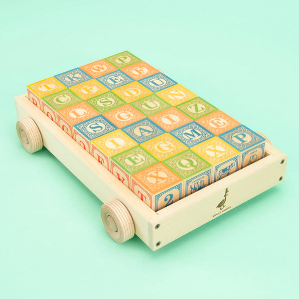 Uncle Goose: Classic ABC Blocks with Wagon