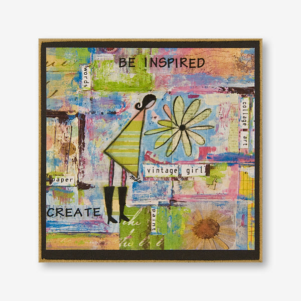 Vintage Girl Designs: Wood Plaque: Be Inspired