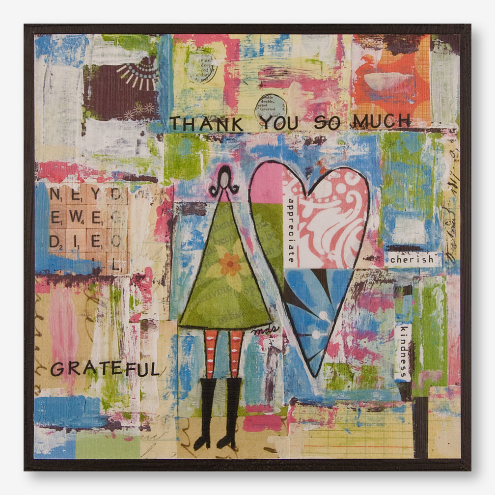 Vintage Girl Designs: Plaque: Grateful