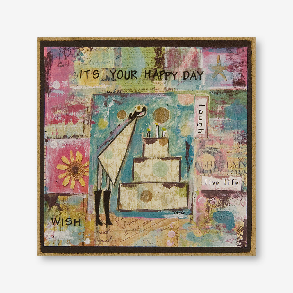 Vintage Girl Designs: Wood Plaque: It's Your Happy Day