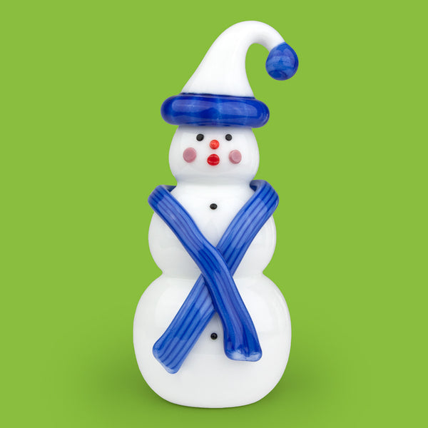 Vitrix Hot Glass Studio: Snowmen: Blue Stocking