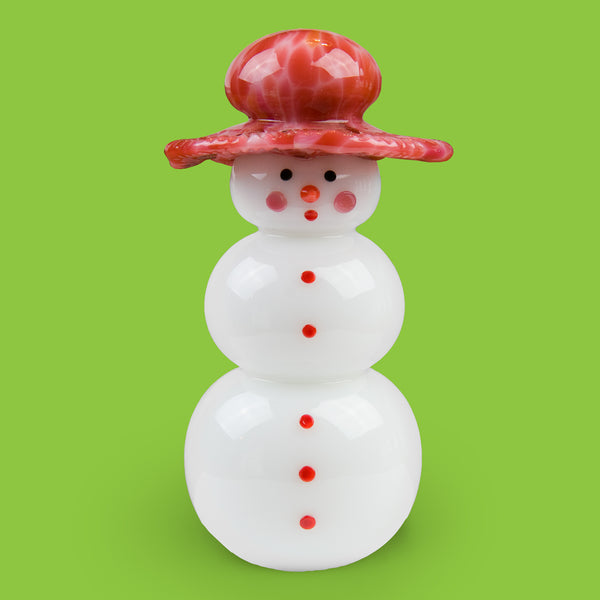 Vitrix Hot Glass Studio: Snowmen: Floppy Hat