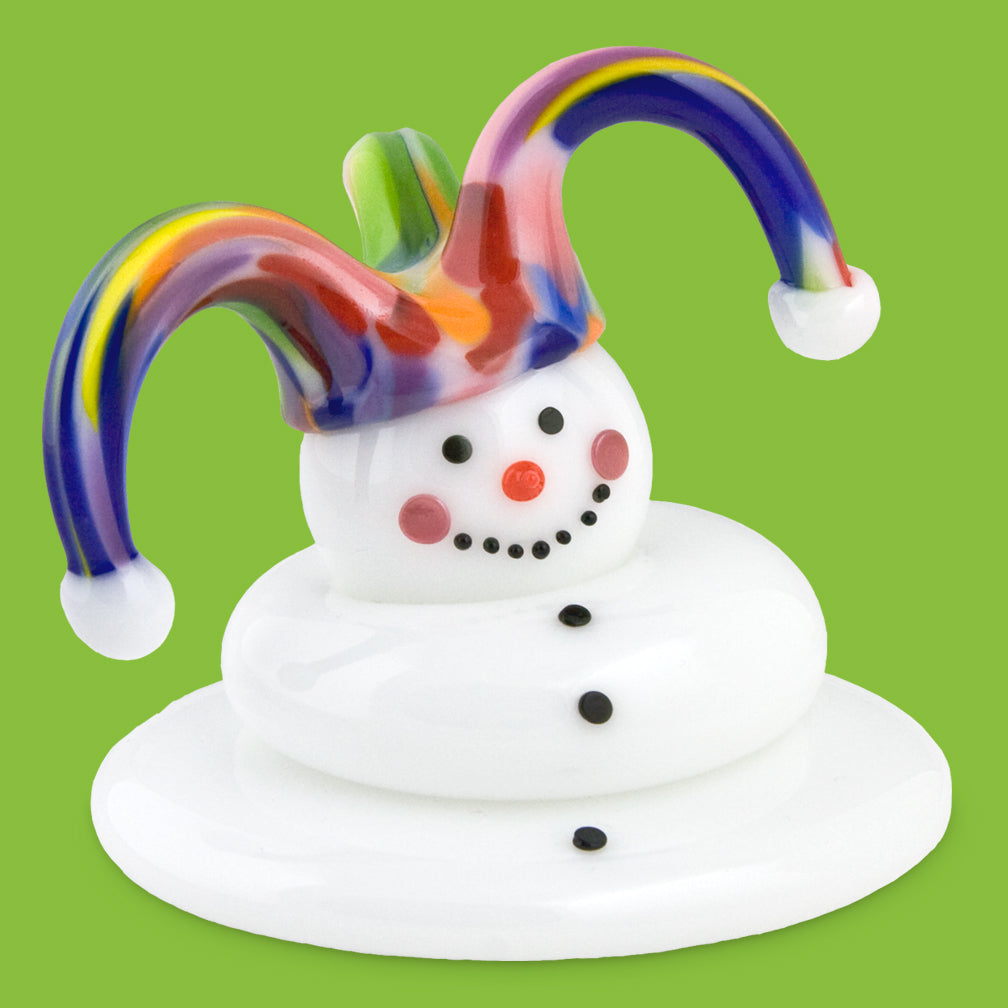 Vitrix Hot Glass Studio: Snowmen: Jester Ives Melted
