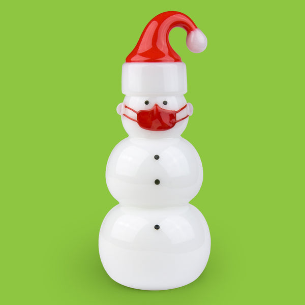 Vitrix Hot Glass Studio: Snowmen: Santa with a Mask