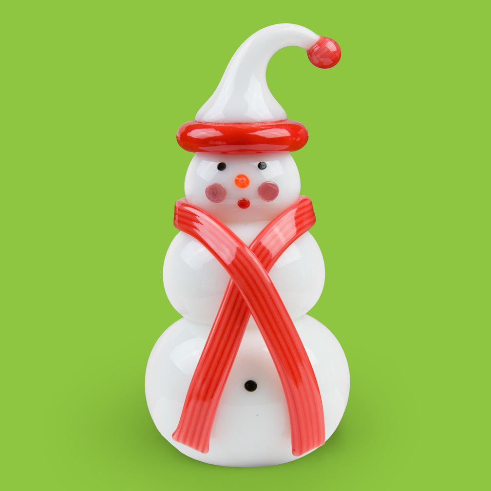 Vitrix Hot Glass Studio: Snowmen: Red Stocking