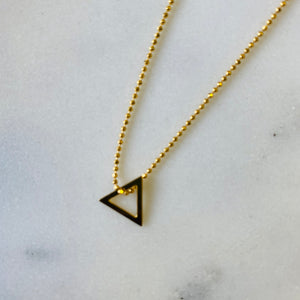 Triangel necklace