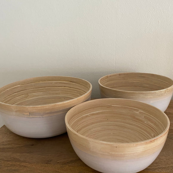 Bamboo bowl set large