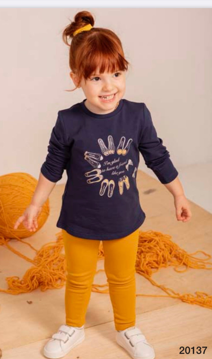 Minibol Navy Top & Trouser Set