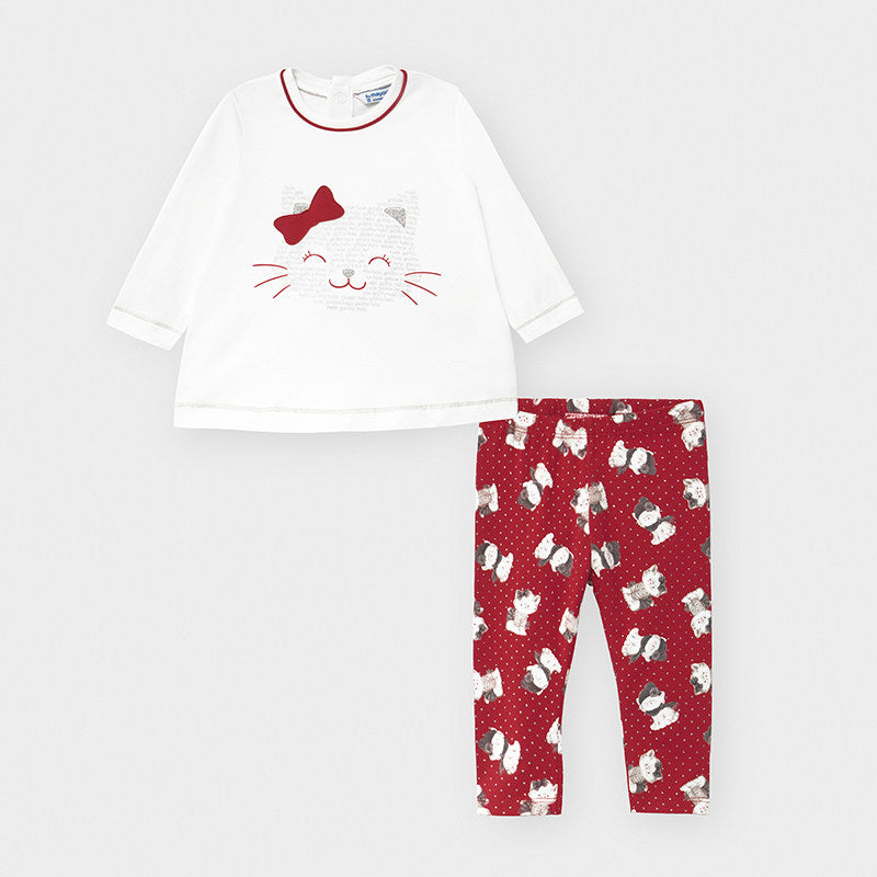 Mayoral Baby Girl Cat Legging Set