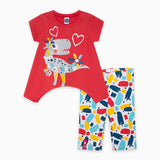 TucTuc Girl Red Tee & Legging Set