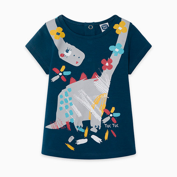 TucTuc Girl Blue Dino Tee