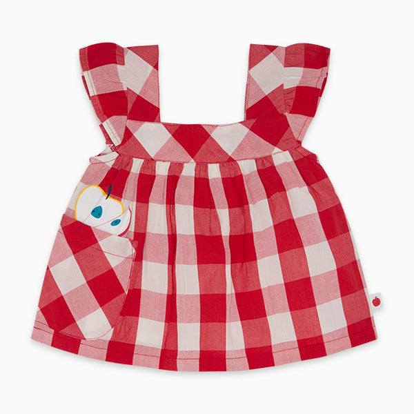TucTuc Girl Red & White Gingham Top