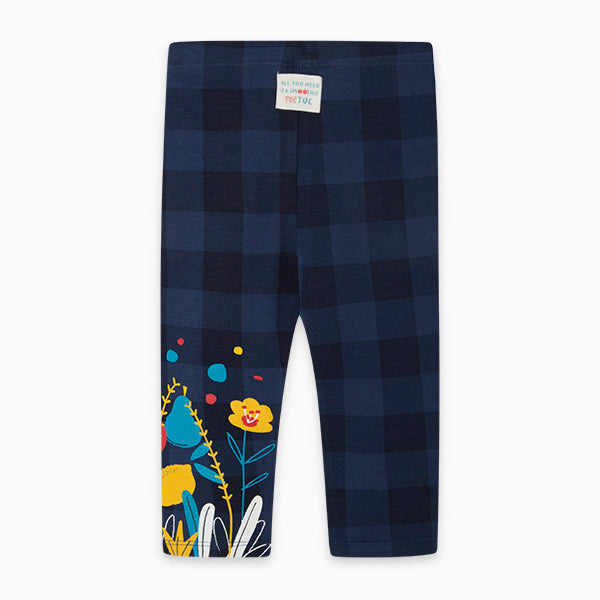 TucTuc Girl Navy Cheque Leggings