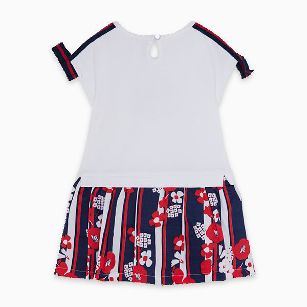 TucTuc Girl Navy & Red Flower Dress