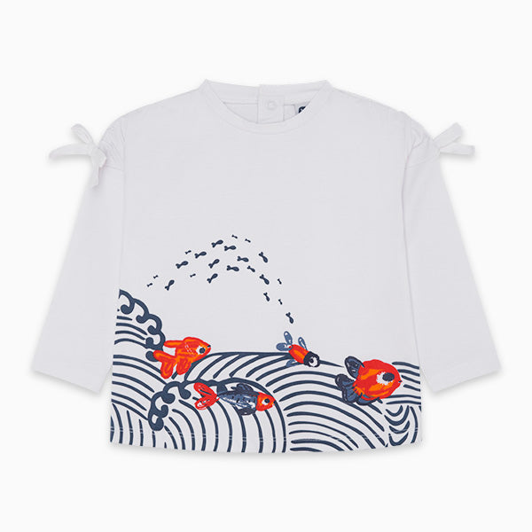 TucTuc Girl Long Sleeve Goldfish Tee