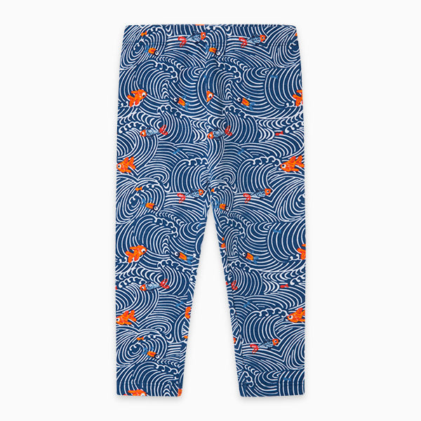TucTuc Girl Navy Goldfish Leggings