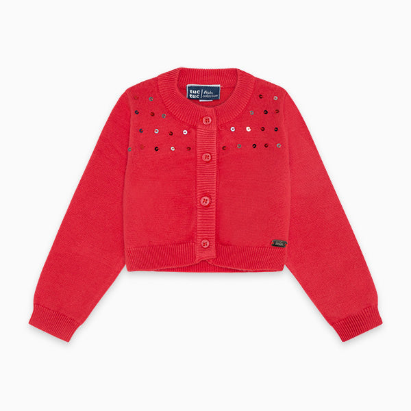 TucTuc Girl Red Cardigan