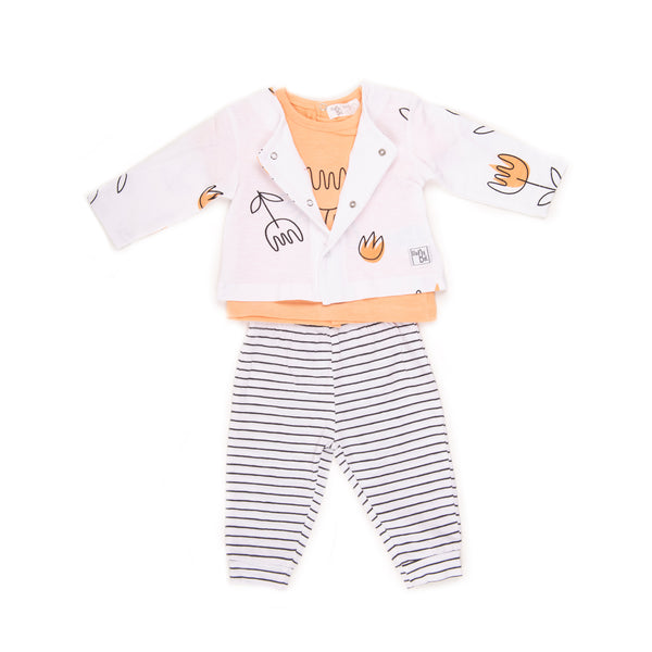 Babybol Baby Girl Tulip 3 Piece Set