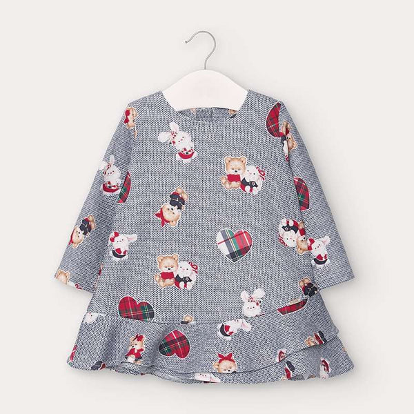 Mayoral Baby Girl Blue Bear Dress