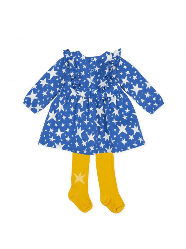 Agatha Ruiz Girl Blue Stars Dress & Tights