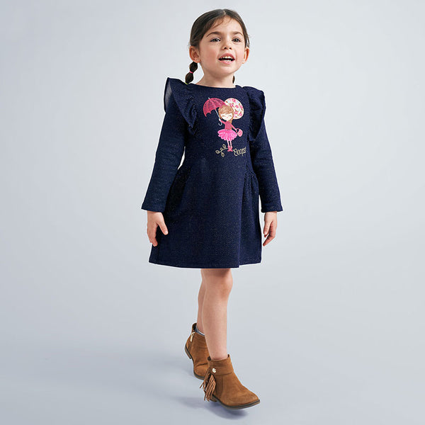 Mayoral Navy Pink Girl Dress