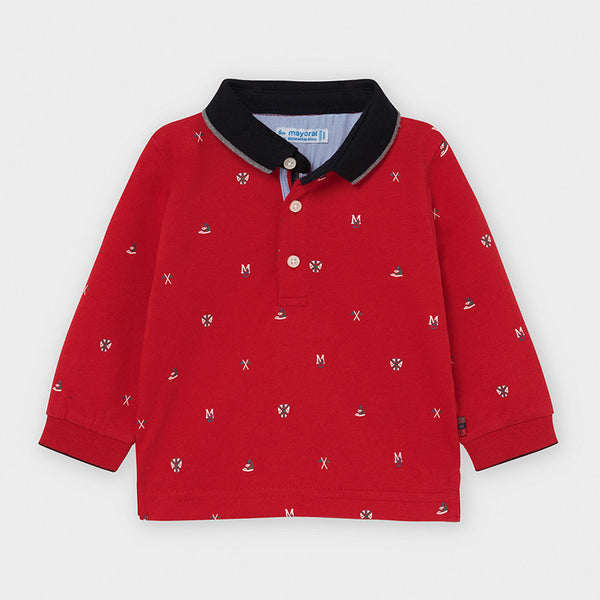 Mayoral Baby Boy Red Polo