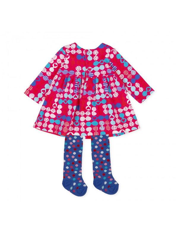 Agatha Ruiz Baby Girl Pink Dress & Tights