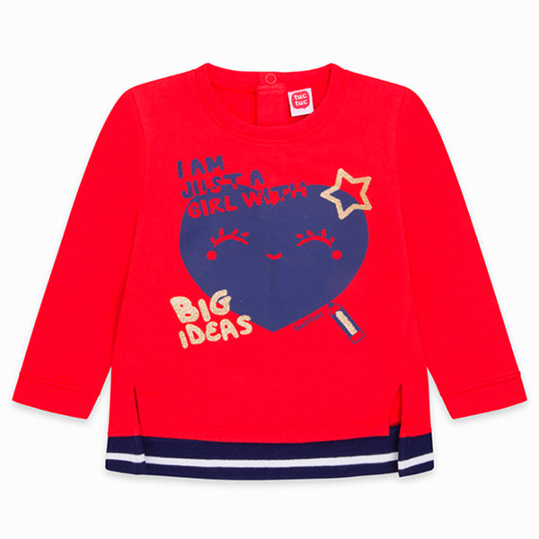 TucTuc Red Girls Sweatshirt