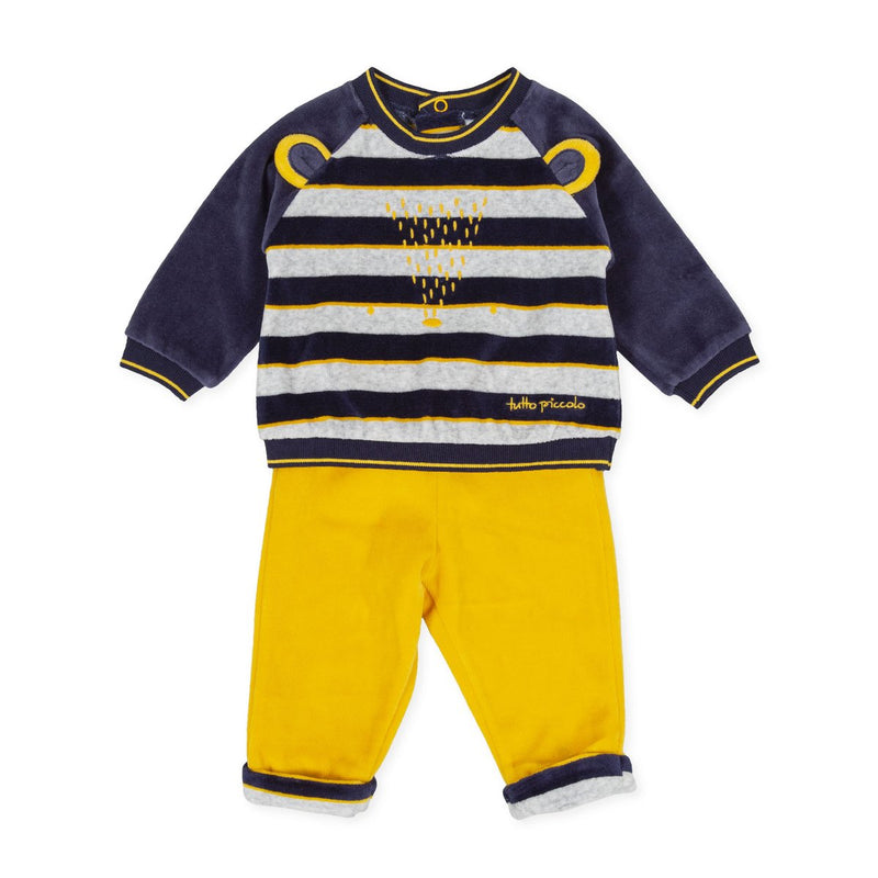 TUTTO Piccolo Baby Boy Navy & Yellow Two Piece