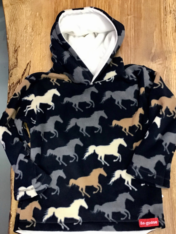 Bagoose Navy Horses Fleece