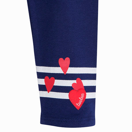 TucTuc Navy Heart Girl Leggings