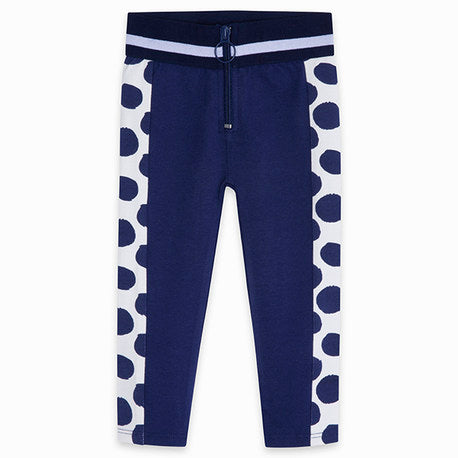 TucTuc Navy Polka Dot Girls leggings