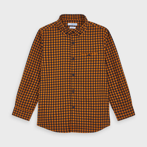 Mayoral Boy Orange check shirt