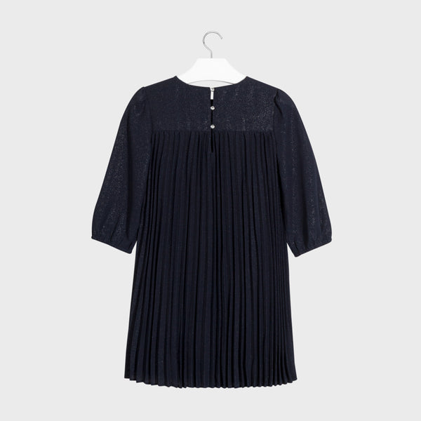 Mayoral Navy Pleated Dress Teen Girl