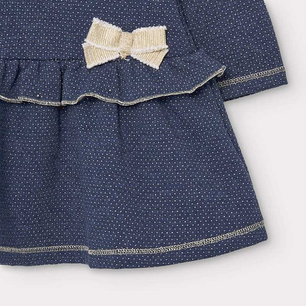 Mayoral Baby Girl  Blue/Gold Dress