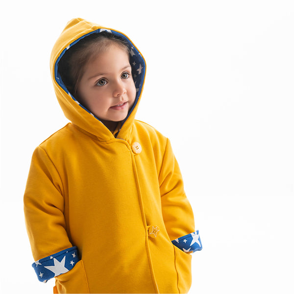 Agatha Ruiz Jellow & Blue Duffle Coat