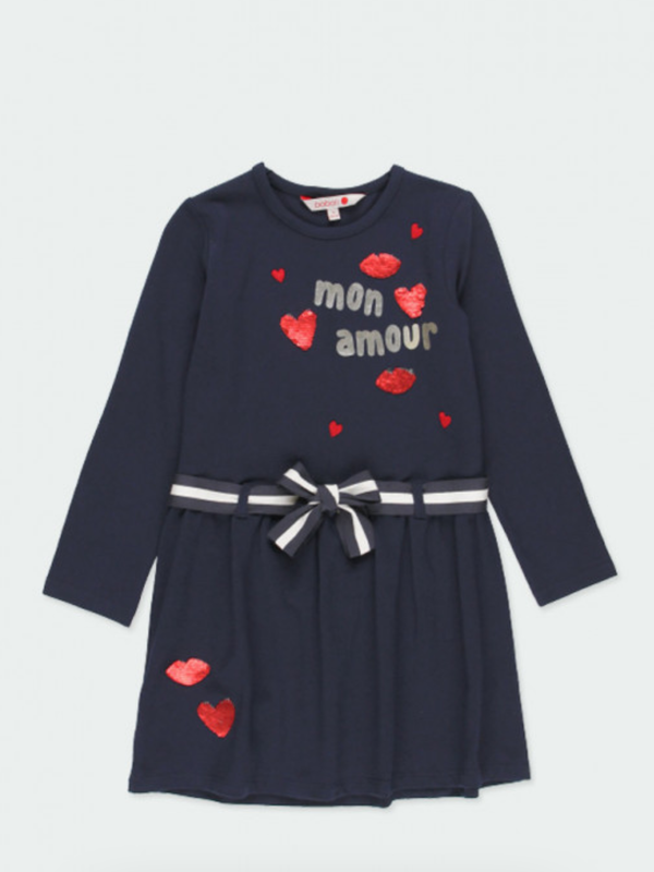 Boboli Navy 'Mon Amour' Dress