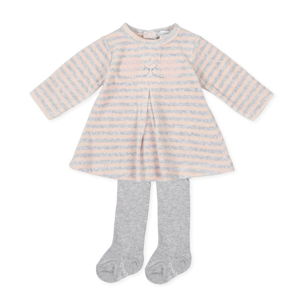 TUTTO Piccolo Baby Girl Pink Dress & Tights