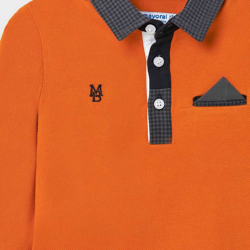 Mayoral Baby Boy Orange Polo