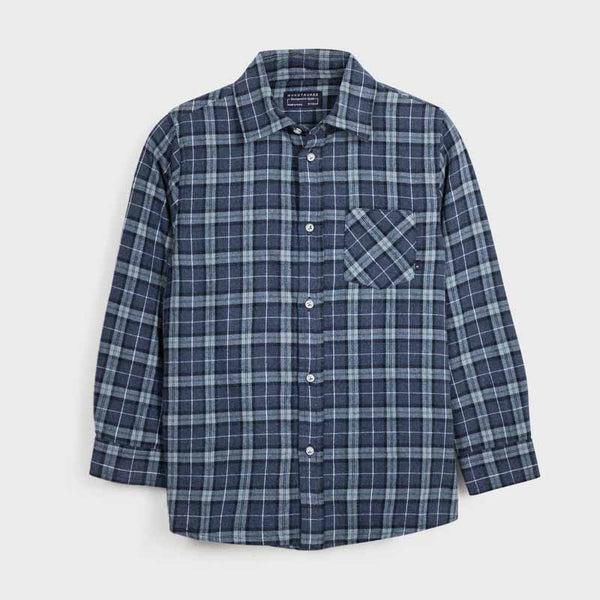 Mayoral Brushed Cotton Check Shirt