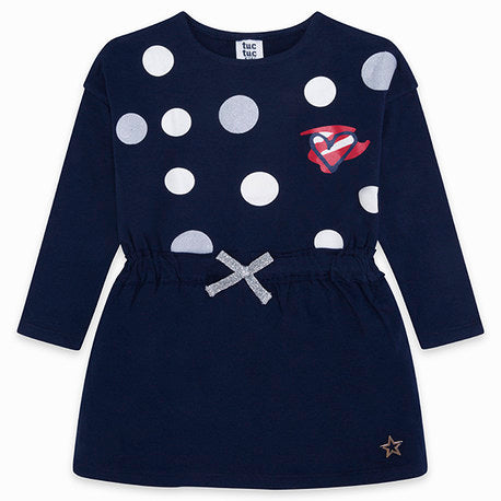 TucTuc Navy Tunic 'Heart' Dress