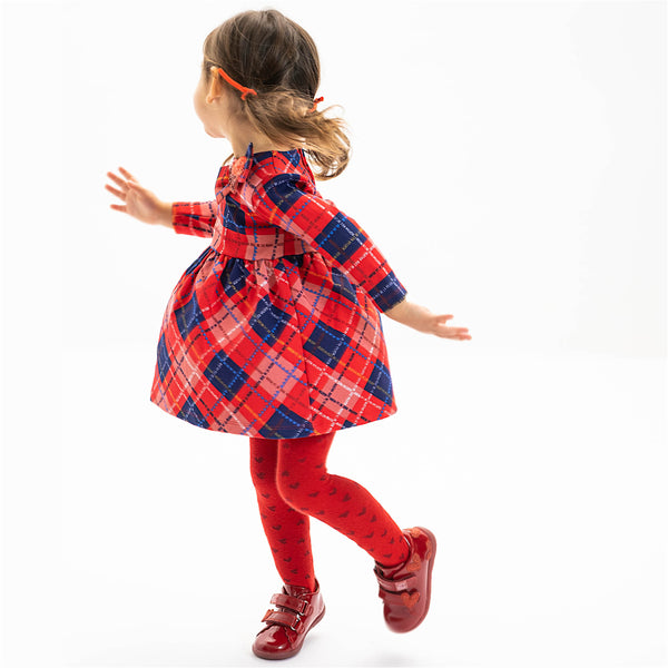 Agatha Ruiz Girl Red 'Check' Dress & Tights