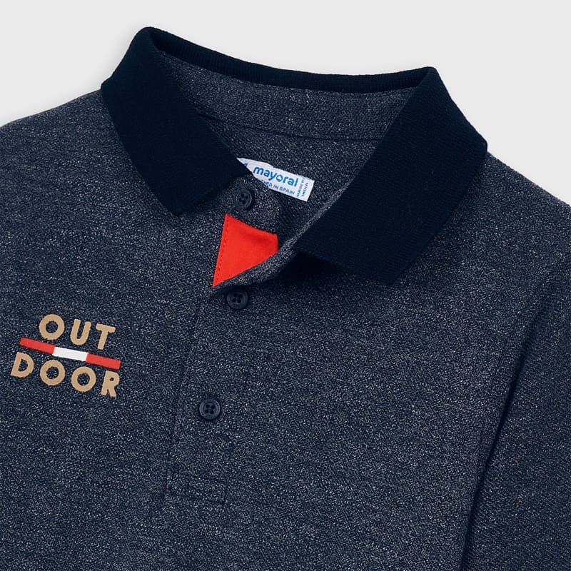 Mayoral Boy Navy Marl Polo