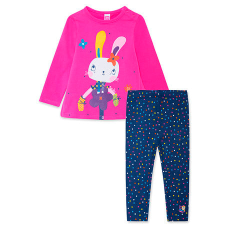 TucTuc Rabbits Girls T-Shirt & Leggings