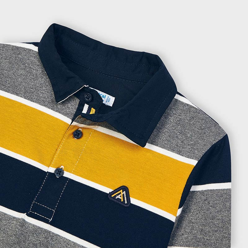 Mayoral Boy Mustard Stripe Polo