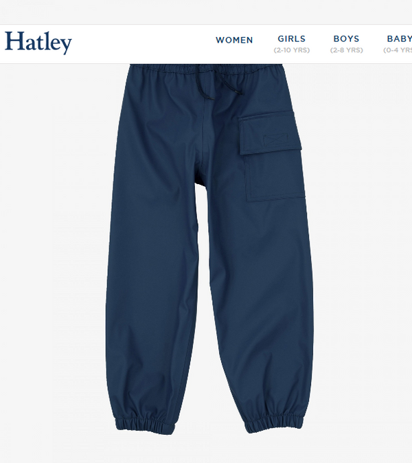 Hatley Navy Rain Pants