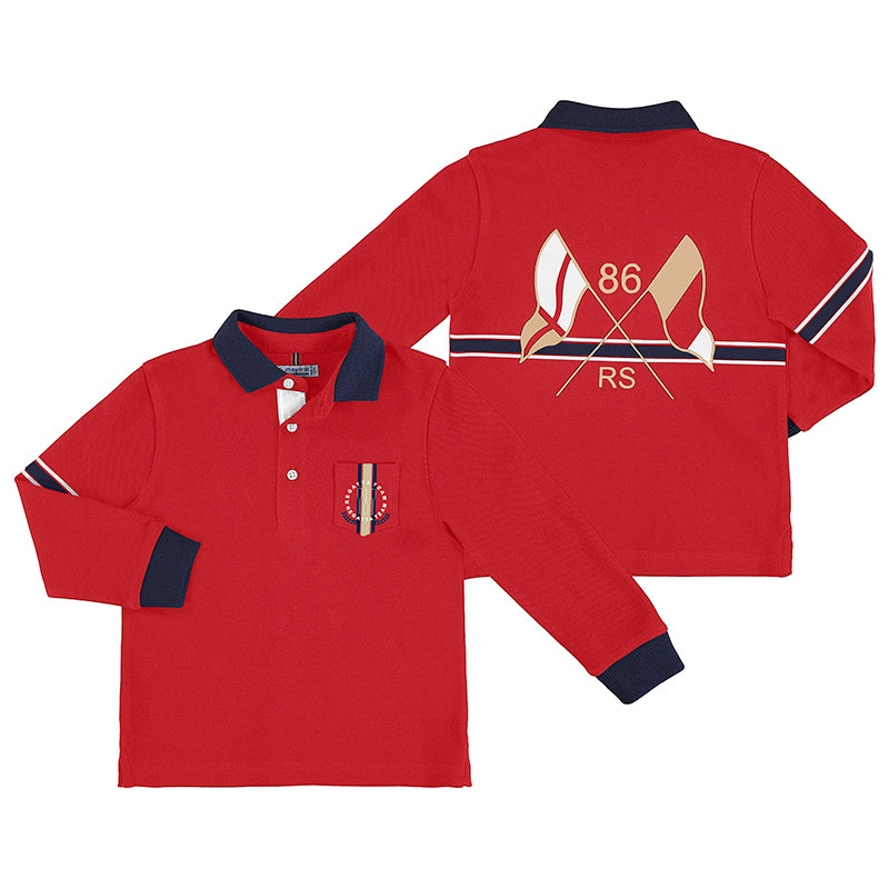 Mayoral Red L/S Polo
