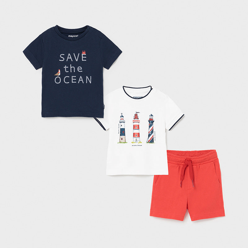 Mayoral Baby Boys Polos & Shorts Set