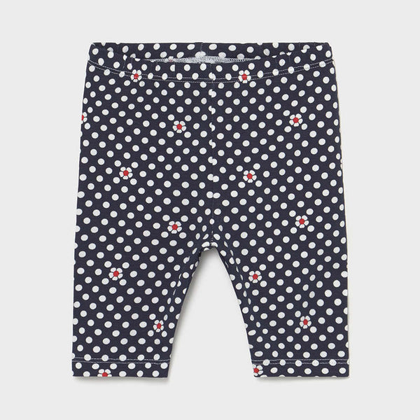 Mayoral Baby Girls Navy Dot Leggings